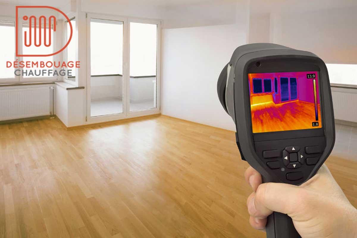 Thermographie des radiateurs et planchers chauffants